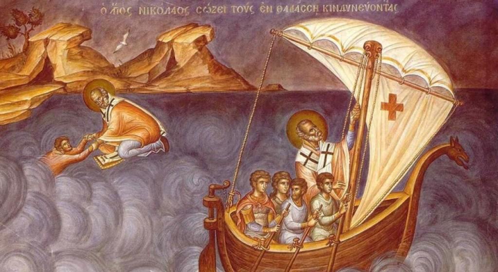 святой николай в лодке